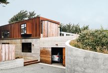 Concrete housing / Domestic architecture with the use of concrete & masonry