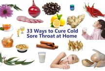 33 Easy and Proven Ways to Cure Common Cold & Sore Throat / Common Cold is not a serious problem and there is no need to worry about it. According to National Institute of Health, you will be recovered from it in 7 to 10 days without any treatment. But home remedies and treatments may help you recover faster. Here I give you the home remedies to recover from  common cold and sore throat. http://askmyhealth.com/cure-common-cold-sore-throat-home/