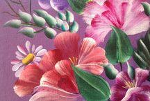 Malerier av blomster