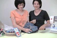 darning and repairing crotch holes