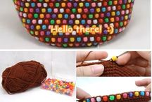 crohet bag beads