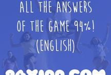 Answers 94% - English / Here you have all the answers of the words and phrases levels of the game 94%