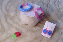 Rainbow loom / Rainbow loom, színes gumigyűrű munkáim