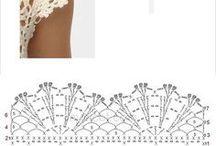 Bordures / Crochet endings, bordures, fillet, lace etc