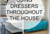 using dresser ideas...