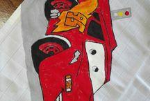 Pinturas em tecido variadas
