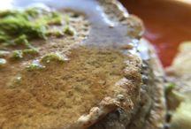 red quinoa pancakes