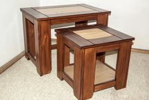 Rustic Coffee Tables Set / www.natureistheartist.webgarden.ro