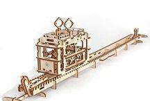Ugears Tram Wooden DIY puzzle