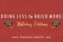 Holiday edition: doing less to build more / Not everything can be a priority. The temptation to compare myself to others is stronger than ever as I watch picture perfect holidays unfold on Instagram. Consumption easily overtakes gratitude as Thanksgiving passes and retailers flood my inbox with deals and new releases.