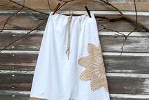 Faldas y delantal