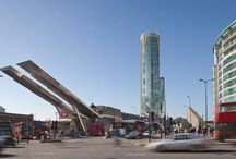 Vauxhall Tower   Conran and Partners / Our proposal for two high-rise residential towers in Vauxhall, edges the Nine Elms threshold looking onto London's South Bank and Westminster city. The scheme includes both a private luxury apartment building and an affordable apartment building, combined with office, retail and shared space to create an active public realm. The project aspires to create high quality residences reflecting the active but tranquil atmosphere of the neighbourhood.