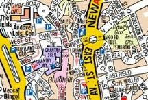 A Z Wall Maps / Street Maps using AZ mapping, ready for your wall. Ideal for local delivery businesses