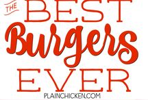 Burgers, Sliders, Wrap, Sandwiches / All kinds of foods that you can eat with your hands!