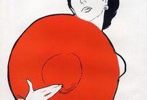 Illustration / Illustration de René Gruau pour les publicités Payot