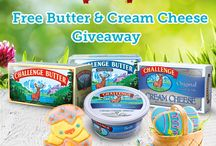Challenge Spring Giveaway / Free Challenge Butter and Cream Cheese Giveaway from March 26th to April 5th, 2015 / by Challenge Butter