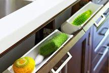 Idéias para organizar escovas, pentes, etc