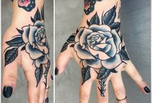 Shoulder rose tat