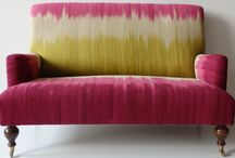 Gelim Sofas and Gelims / Ptolemy Mann and Rug-Maker have created this stunning sofa to celebrate their Colourfield Gelim collection of rugs.
