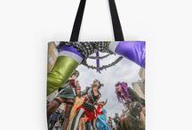 Brilliant Bags / Tote bags of all sizes, unique, original and fun bags