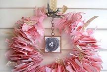 Scrap paper wreath / Scrap paper