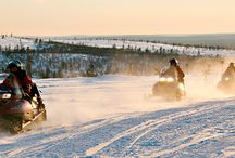 Snowmobile Safaris / A selection of pictures of snowmobiles excursions in Finnish Lapland