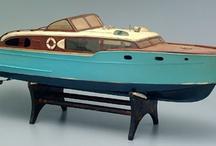 Wooden boat models