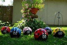 outdoor lawn ornaments / by Tori Joblinske