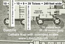 Bastille Cathala / Book covers George Washington's (Mount Vernon's) Bastille Key:  www.LibertyKey.US   Bastille dimensions, size, measurements, height, depth, length, high, long, wide:   www.LibertyKey.US
