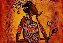 Pinturas de Mulheres Africanas