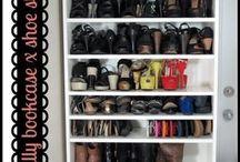 как уместить всю обувь в одном шкафу;)