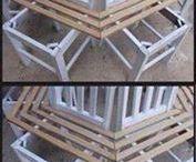 ławka ogrodowa z krzeseł