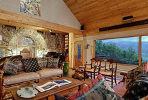 Rustic Chalet / Mountain chalet decorated with traditional pottery home décor