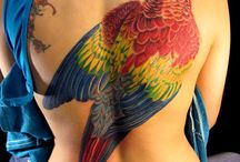 Parrot Tattoo / http://www.tattoosideas.co.uk/parrot-pictures.html