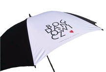 Personalised Umbrellas / Umbrellas with your company or society logo are popular promotional options. We have no minimum order so no mater what the size of your team you can promote your brand. http://www.spectrumgolf.co.uk/umbrellas.html