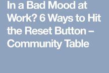 Job: How to Reset/Quick break