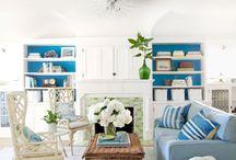 Decorating with Blue / Decorating with blue.  Blue home decor.