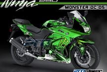 Modifikasi Ninja 250R - Decal Kawasaki Ninja 250 Karbu