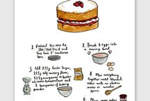 Illustrated recipes / When art and food collide