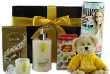 "Get well / ""It's the thought that counts"". These gifts will make them feel better and cheer them up.  Select a Get Well gift or a Thinking of you gift from our collection below.   Our Get Well and Thinking of you hampers contain pamper products suitable for male and female, candles, Get Well Bear, magazines, jelly beans and chocolates."