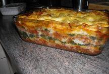 Lasagne met spinazie.