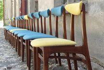 krzesełka PRL
