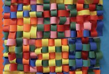 paper and yarn weaving / by Melinda Carron