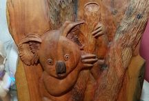 koala en racine de teck
