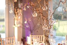 Christmas decorations and centrepieces