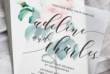 Wedding stationary inspiration