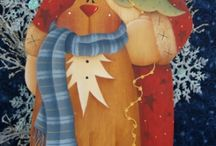 Christmas Decorative Painting / Painting decorative wood items for Christmas