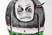 prace uczestniczek zajęć - Idy i Marysi /  kurs rysunku i malarstwa Sowa-edu, zobacz więcej o nas na naszej stronie:http://sowa-edu.pl/szkola-rysunku