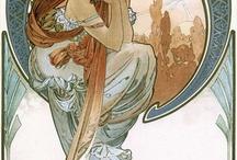 Art Nouveau / O Art nouveau é uma reacção à arte académica do século XIX e inspirado principalmente por formas e estruturas naturais, não somente em flores e plantas, mas também em linhas curvas. Significa arte nova.