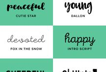 I ♥ lettering and fonts